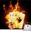 Pinaki Ace Card Fire Mousepad