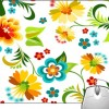 Pinaki Colorful Flower Design Mousepad