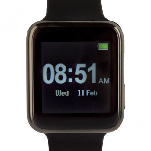 Arya Uwear Black Smart Watch