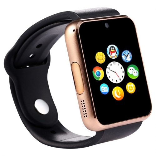 Bingo T50 Gold Bluetooth Smart Notification Smartwatch Memory Slot,sim Slot