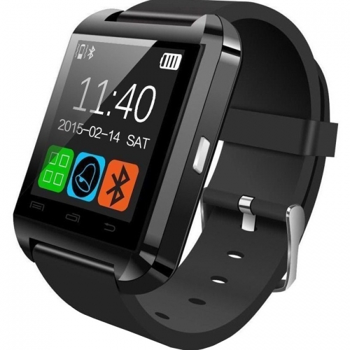 Bingo U8 Black Bluetooth Smart Notification Smartwatch