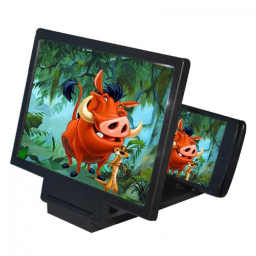 Dharma 3d Glass Screen Enlarger For Mobiles And Tablets - Black