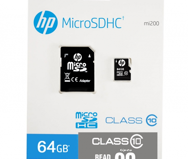 HP Micro SD Card 64 GB With Adapter