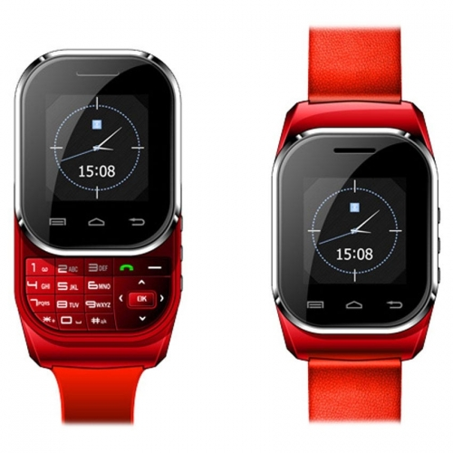 Kenxinda New W1 Red Dual Sim Smart Watch With Bluetooth Device