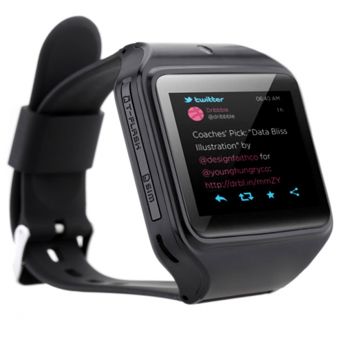 Kenxinda Black Silicon Automatic Smartwatch