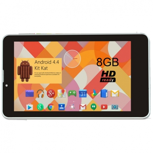 Vox Vox 17.7cm Dual Sim 3g Dual Core Hd Tablet Dual Camera Android 4gb 4gb 3g Calling White