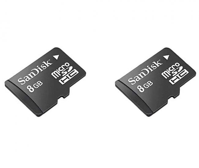 Sandisk Micro SD 8GB Card+Sandisk Micro SD 8GB Card