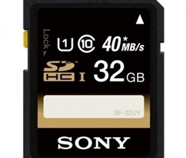 Sony 32 GB SDHC Memory Card Class 10 (SF-32UY)