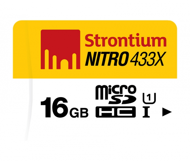 Strontium 16 Gb Nitro 433x (65mb/s) Memory Card
