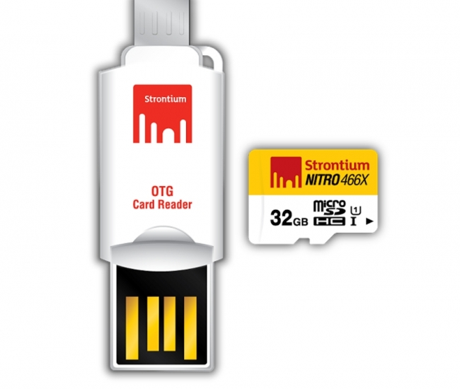 Strontium 32GB Nitro MicroSD Card With OTG Adapter 70MB/S