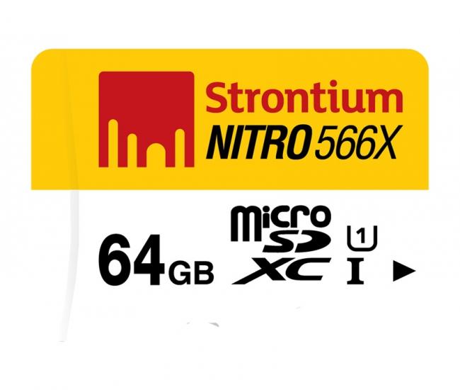 Strontium 64 Gb Nitro 566x (85mb/s) Memory Card