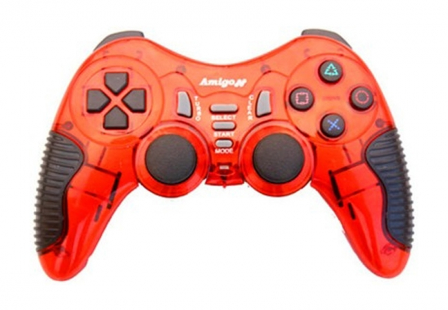 Amigo Wireless 5 In 1 Stk 2021pup Gamepad - Red For Pc, Ps2, Ps3, Android Mobile, Android Tv Box
