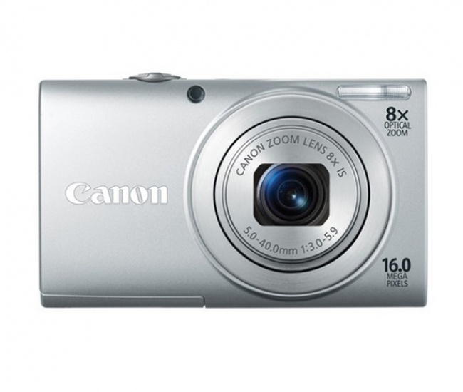 Canon Powershot A4000 IS 16MP Point & Shoot Digital Camera (Silver)