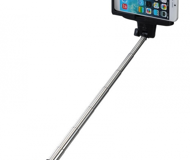 Clickaway Extendable Selfie Stick Monopod For All Mobiles And Camera With Remote Shutter - Black