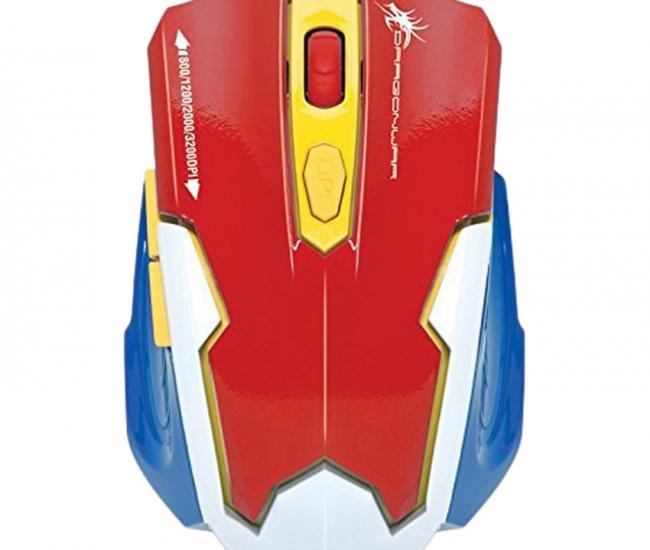 Dragon War Emera 3200 Dpi Gaming Mouse (red)