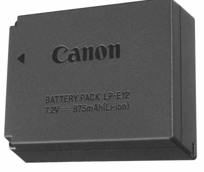 Gfd Lp-e12 Li-ion Battery For Canon Eos 100d