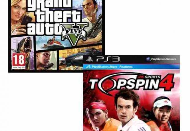 GTA V PS3 & Topspin 4 PS3