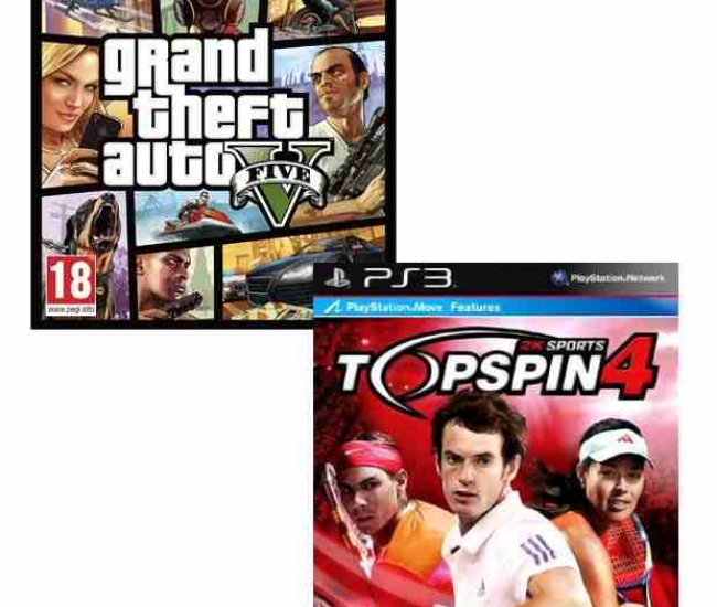 GTA V PS3 & Topspin 4 PS3