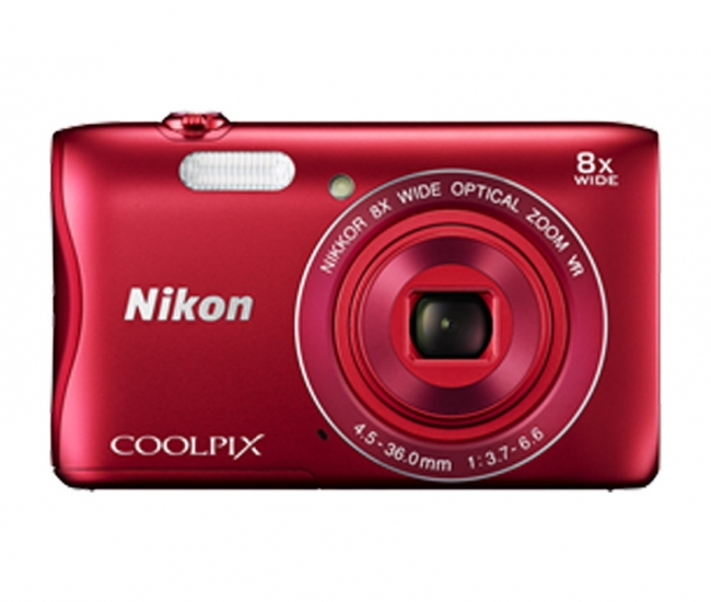 Nikon Coolpix 3700 Digital Camera - Red