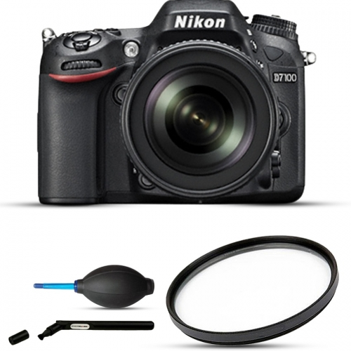 Nikon D7100 Combo with (18-140mm Lens + Lens Cleaner + Filter)