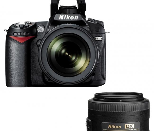 Nikon D90 DSLR Combo with AF-S 18-105mm VR + 35 mm f/ 1.8 G AF-S