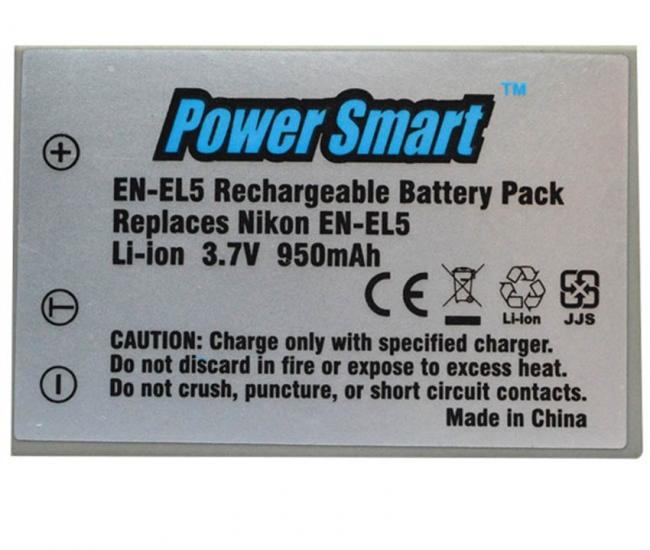 Power Smart 950 Mah 3.7v Li-ion Battery For Nikon Enel5