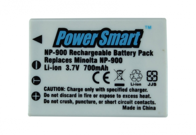 Power Smart 700mah Replacement Battery For Minolta Np-900 - White