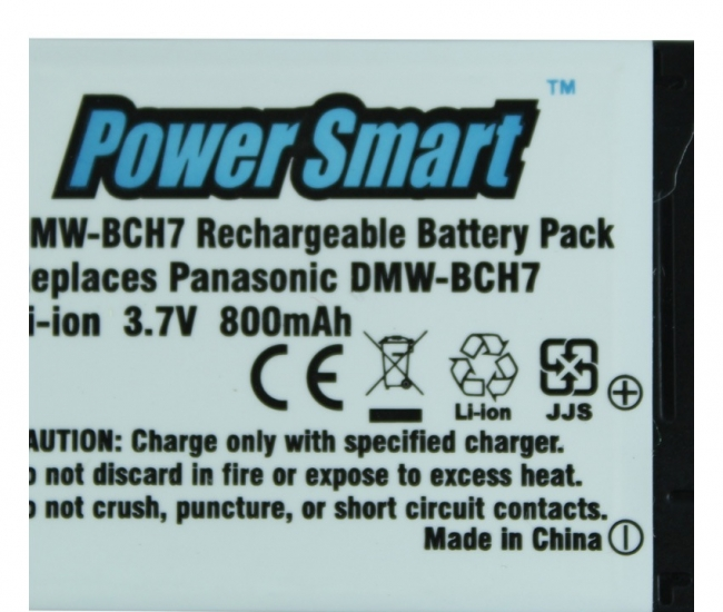 Power Smart 800mah Replacement Battery For Panasonic Dmw-bch7 - White