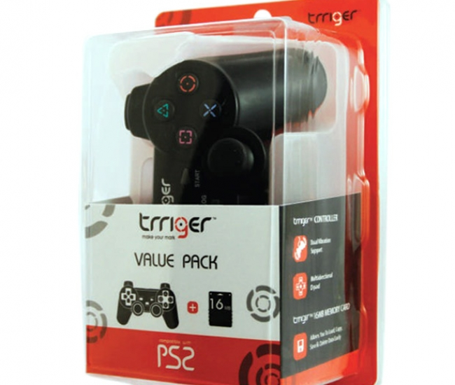 Trriger Value Pack for PS2 (Controller & 16 MB Memory Card)