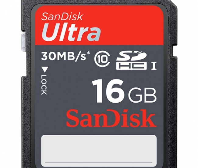 Sandisk Ultra SDHC 16 GB 30MB/s Class 10 Memory Card
