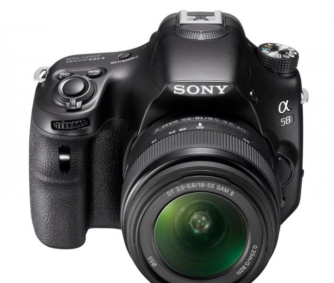 Sony SLT-A58K SLR with SAL 18-55mm Kit Lens