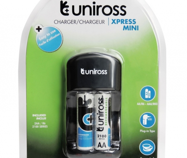 Uniross 2100nimh X2 Battery With Xpress Mini Charger