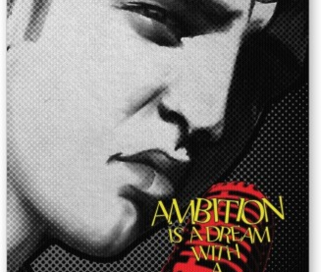 PosterGuy Ambition is a Dream | Elvis Presley Typography Mousepad