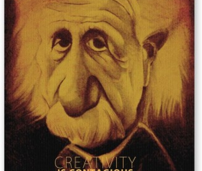 PosterGuy Creativity Is Contagious | Albert Einstein Motivational Mousepad