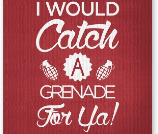 PosterGuy I Would Catch a Granade for You Bruno Mars Inspired Mousepad