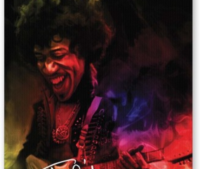 PosterGuy Jimi Hendrix Quirky Abstract Painting Music Legends Mousepad