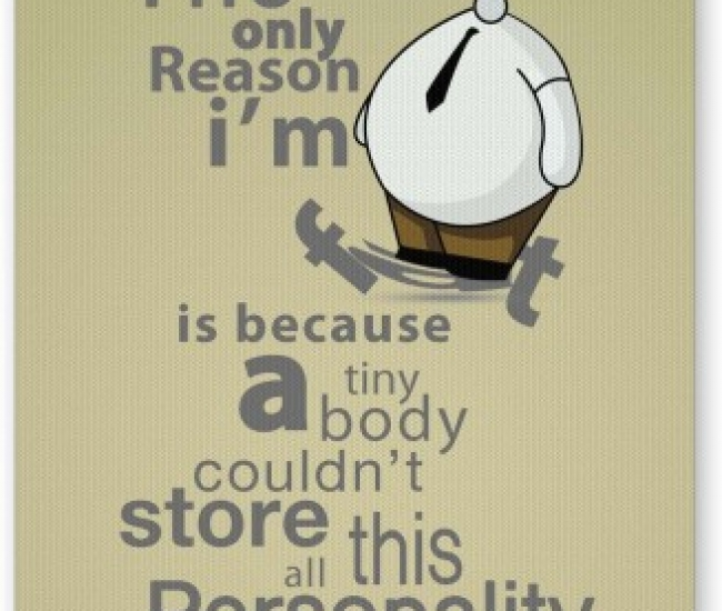 PosterGuy Only Reason I Am Fat | Funny Illustration Mousepad