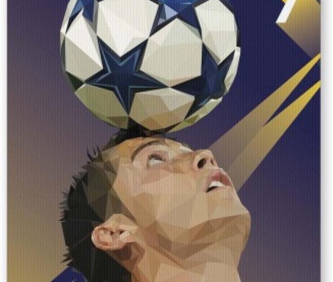 PosterGuy Pixelated Ronaldo Graphic Illustration Football Fan Art Mousepad