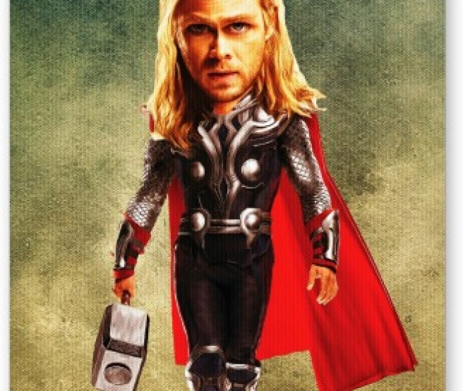 PosterGuy Thor Avengers Movie Inspired Caricature Movie Mousepad