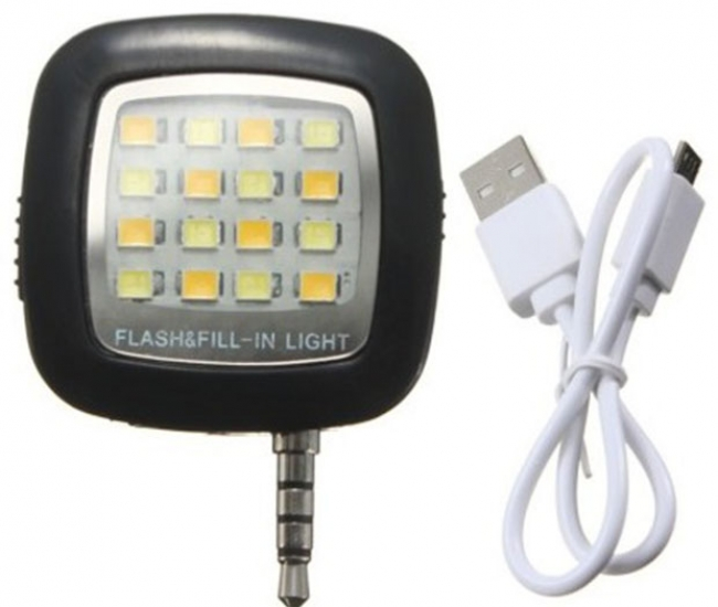 Colorkart Night Selfie Led Flash Light With Micro Usb Cable For Samsung Galaxy Core