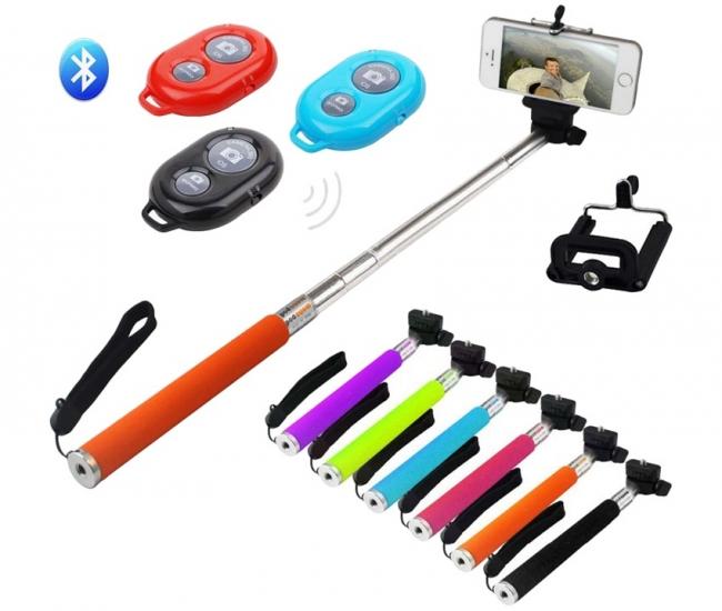 Ezzeshopping Multicolour Bluetooth Selfie Stick
