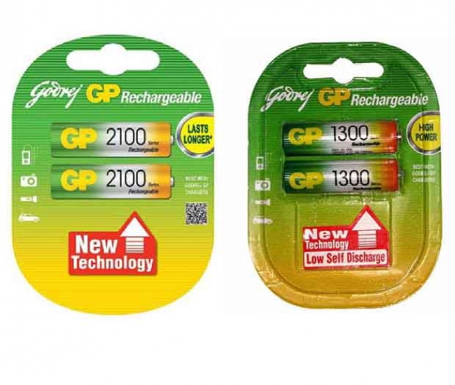 Godrej Gp Combo Of 2100 Mah And 1300 Mah Rechargable Batteries
