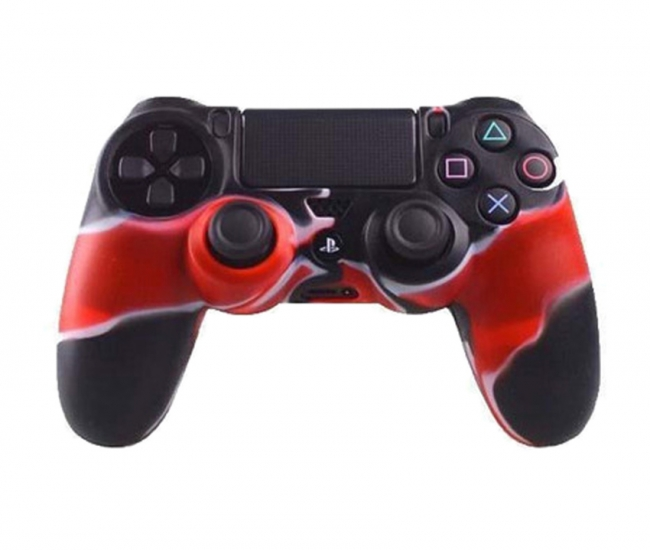 Hytech Plus Playstation 4 Controller Skin Gamepad - Red And Black