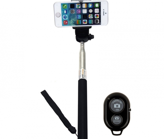 Jo Jo Extendable Selfie Stick Handheld Monopod With Remote Bluetooth
