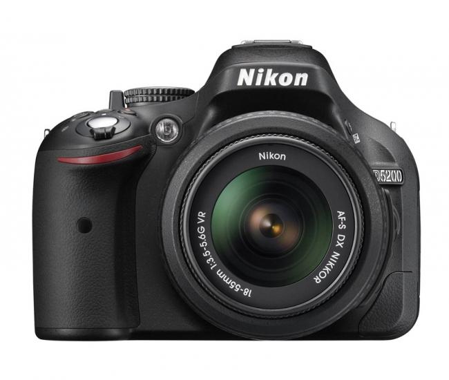 Nikon D5200 SLR (with AF-S 18-55  mm VR Kit Lens) (Black)