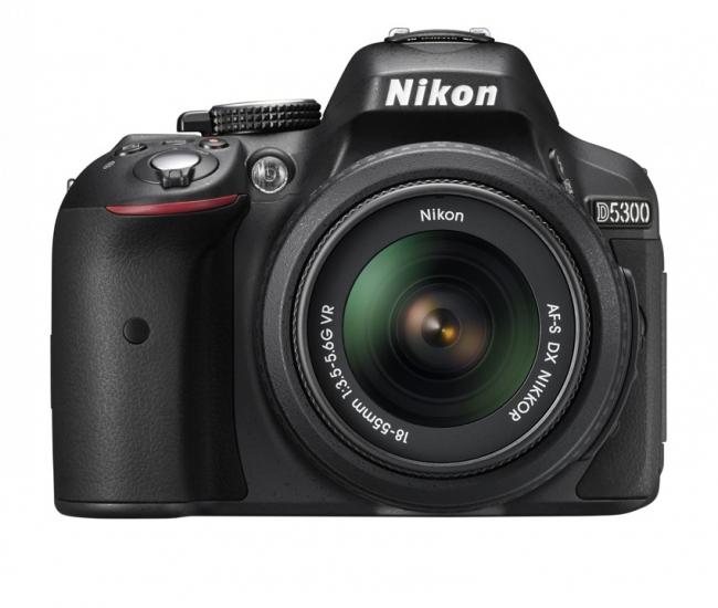 Nikon D5300 24.2 MP DSLR with AF-S 18-55mm VR Kit Lens (Black)