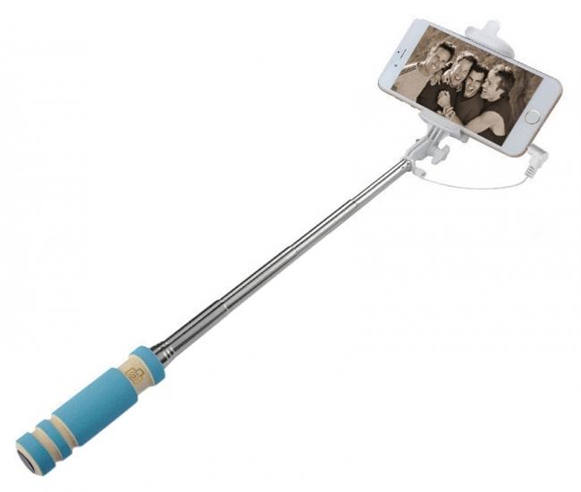 Nukkads Blue Selfie Sticks For All Smartphones