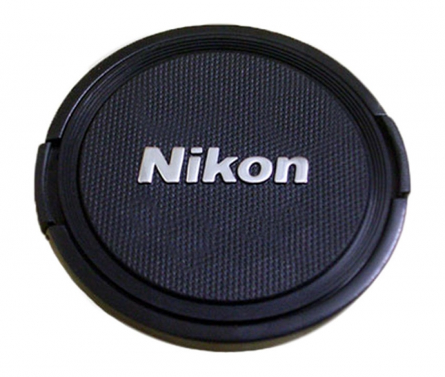 Ozure Silver Embossed 62 mm Lens Cap for Nikon