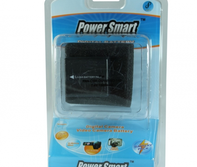 Power Smart 1500mah Replacement Battery For Panasonic Cga-du-14 And Vw-vbd140 - Black