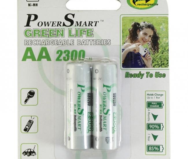 Power Smart Pack Of 2 Aa 2300mah Ni - Mh